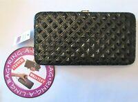 Ring-A-Ling Black Wristlet Clutch Wallet Credit Card Holder Evening Bag New Tag