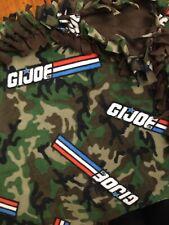 Handmade Fleece Tie-Blanket Hasbro Retro Gi Joe Military Camouflage 58x90 Xl