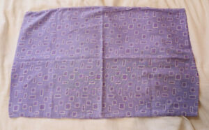 Single Lilac / Purple Pattened Bedding Pillow Case 45x70cm