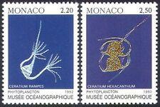 Monaco 1992 Marine/Plankton/Fish/Nature/Oceanographic Museum 2v set (n20589)