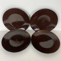 Thomas O'Brien Stoneware Dinner Plates Vintage Modern Brown Set Of 4 9533