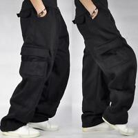 Mens Loose Cargo Baggy Hip Hop Long Pants Trousers Athletic Sweatpants Zsell