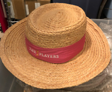 Kate Lord Women's THE PLAYERS Straw Hat Pink bow sash Championship TPC Sawgrass