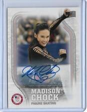 RARE 2018 TOPPS OLYMPICS MADISON CHOCK FLAG AUTOGRAPH CARD /25 ~ FIGURE SKATING