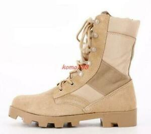 Mens Womens Military Desert Boots Outdoor Army Lace Up Breath Combat Work Shoes