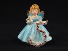 Josef Originals Five / 5 Birthday Angel Girl Figurine - Black Eyes & Sticker