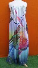 FOREVER NEW maxi strapless colourful party dress, size 6.