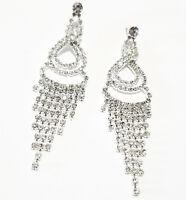 Rhinestone Chandelier Earrings Austrian Crystal 3.75
