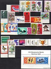 Alemania Occidental Colección de 1975 y 1976 (no Completa-todos los listados) un/mint