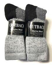 6 Pair Men's Ellis Gray w/ Black Bottom Merino wool Thermal Sock Size10-13.