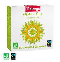 Malongo Moka-Laos Espresso 160 Pads - Bio/Fair Trade - 100 % Arabica 123Sp
