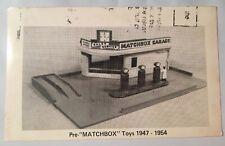 First Garage Set 1950s Lesney Prods Matchbox Toy Museum Postcard Lynn Mass Trade