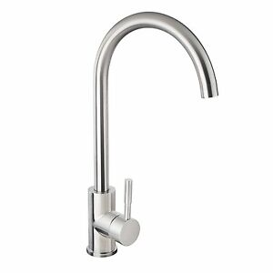Linkware Elle Project SST874B Gooseneck Kitchen Sink Mixer Tap Bathroom