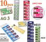 10Pcs 1.5V 3V Alkaline Coin Button Cell Battery Watch Batteries AG0-AG13 CR1616