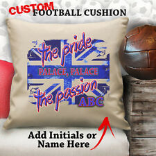 Personalised Crystal Palace Vintage Cushion Custom Cover Canvas Sport Gift