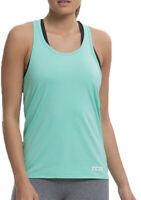 TCA Vista SuperSoft Womens Workout Vest Green Gym Training Pilates Yoga Tank Top