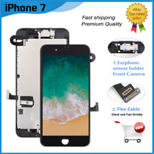 For iPhone 7 4.7'' Screen Black LCD Display With Camera Replacement+3D Touch