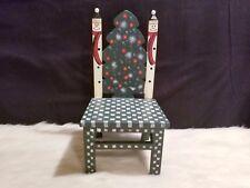 "World Bazaar Wooden Snowman Chair For Doll, Stuffed Toy, Candles 12"" x 6"" x 5"""