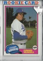 Fernando Valenzuela Los Angeles Dodgers 1981 Rookie Cards Buy 1-ONE FREE