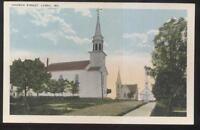 Postcard LUBEC Maine/ME  Church Street 3 Area Local Church Buildings 1910's