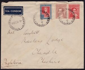ARGENTINA 1935 COVER to ENGLAND  @D9238H