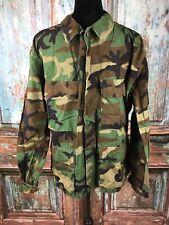 US Military Surplus Med-Short Woodland Camo Ripstop Blouse BDU Top Shirt ROTC