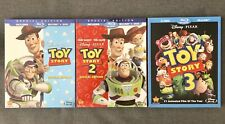 Toy Story 1, 2, 3 Set (Bluray/Dvd, Special Edition, Disney/Pixar) with Slipcover