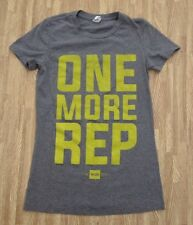 One More Rep The WOD Box CrossFit Shirt ~ Women's Small S ~ SS Gray Athletic Gym