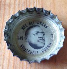 1960'S COKE BOTTLE CAP #E49 NFL ALL STARS ROOSEVELT BROWN