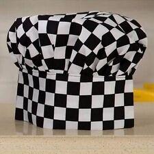 Professional Checkerboard Hotel Restaurant Chef Hat Cap Kitchen  Cook Unisex