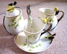 Graff porcelain Bird tea set:cup and saucer,spoon,jug,sugar bowl,set of 5 pieces