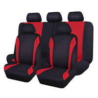 Car Seat Covers Universal Mesh Washable Suv Red Rear Bench Split 40/60 50/50