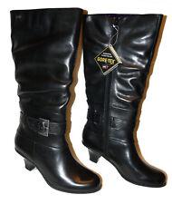 BNIB  size 8  D fit   CLARKS KARIS ROSE GTX   GORE-TEX BOOTS in BLACK LEATHER