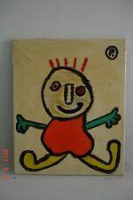 Tableau art brut - Personnage sur toile -.
