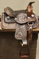 "8"" Toddler Brown Western Leather Saddle Miniature Pony Saddle GREAT LOW PRICE"