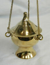 Hanging Three Chain Brass Incense / Cone Burner - Good Quality  - BNWT