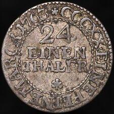 More details for 1763 e.d.c. | german states saxony-albertine 1/24 thaler | billon | km coins