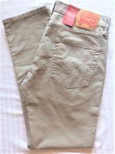 Levi's Men's New 502 0025 34X34 True Chino Khaki Regular Taper Jeans RegToThigh