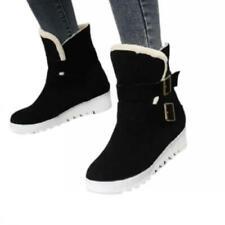 Европы женские на открытом воздухе толстые теплые подкладка нескользящая каблук круглый носок лодыжки ботинки D