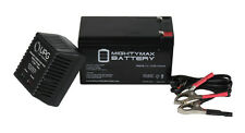 Mighty Max 12V 7AH Battery For UPS And Alarm Systems + 12V 1Amp Charger