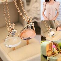 Charm Chain Necklace Long Sweater*Chains Ballerina Dancer Pandent Necklace new.