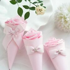 Paper Cones With Bow Wedding Favors Flower And Candy Box Party Table Decorations