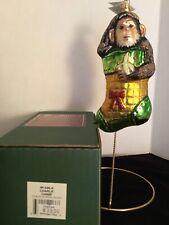 """""""Charlie Chimp"""" 6.75"""" Slavic Treasures 99-046 Xmas at Zoo Ornament Nib"""