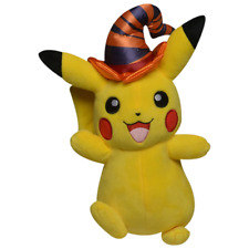 Pokemon Halloween 8 Pikachu with Witch Hat Plush NEW