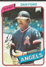 Dan Ford 1980 Topps Autograph #20 Angels