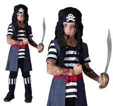 Childrens Tattoo Pirate Fancy Dress Costume & Bandana Halloween Kids Outfit L