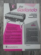 The Garlando Soccer Arcade Machine Flyer Original Empire Dist Brochure