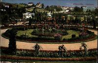Chemnitz Sachsen Color Postkarte 1915 gelaufen Partie im Stadtpark Grünanlagen