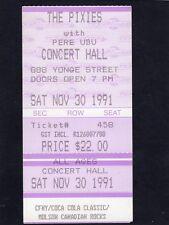 Original 1991 Pixies unused full concert ticket Toronto Canada Bossanova