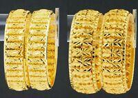 Indian Traditional Kada Wedding Bangle Set Gold Plated Bracelets Bridal jewelry